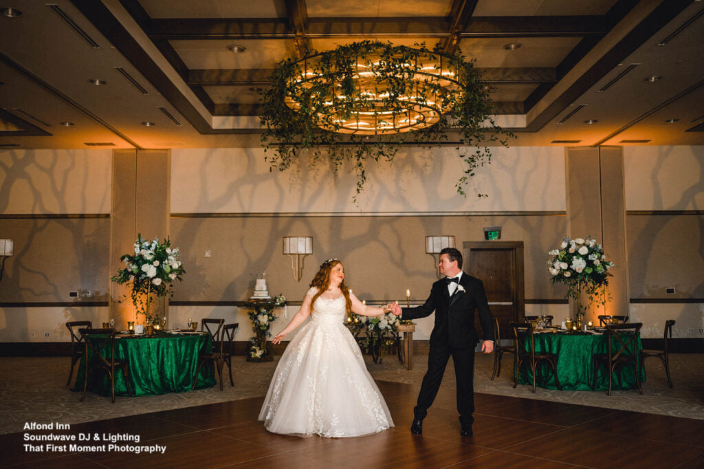 enchanted wedding at alfond inn soundwave lighting