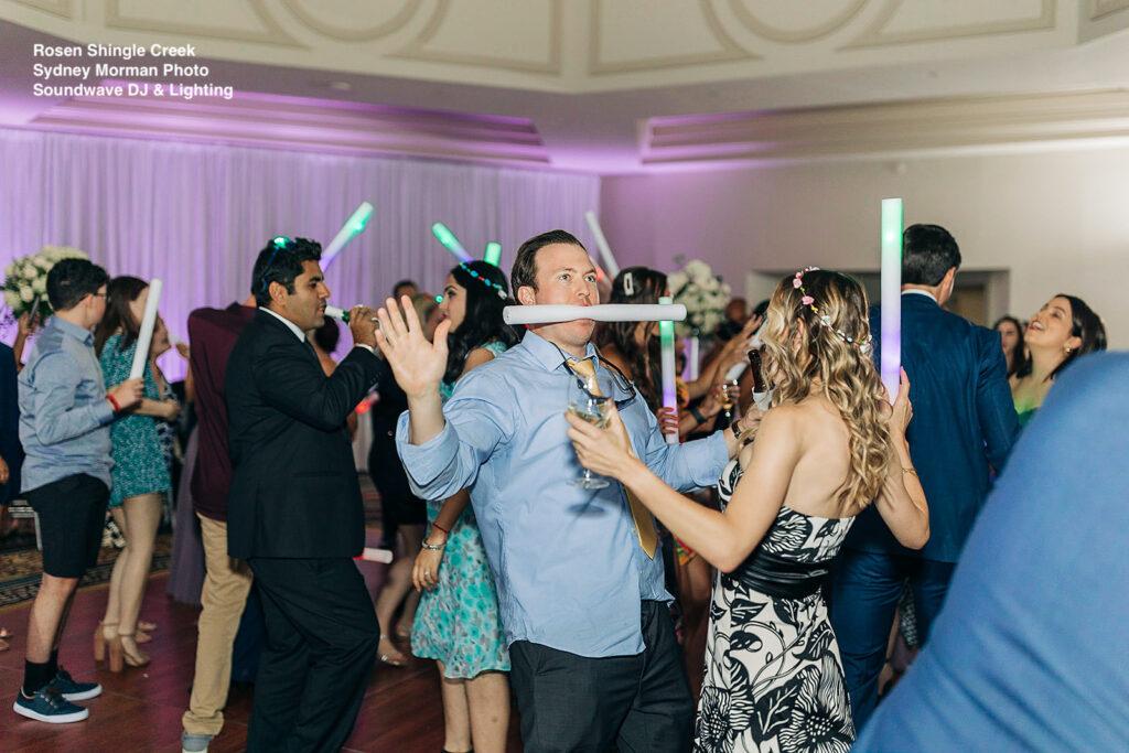 wedding dance props wedding at rosen shingle creek soundwave entertainment