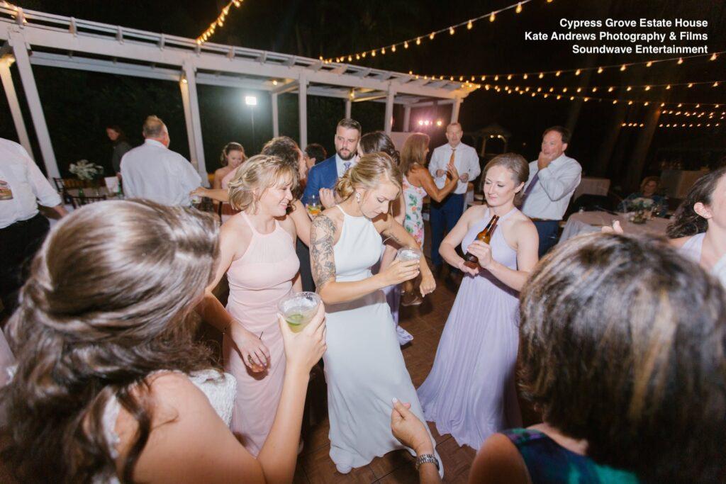 bridesmaids wedding cypress grove soundwave entertainment
