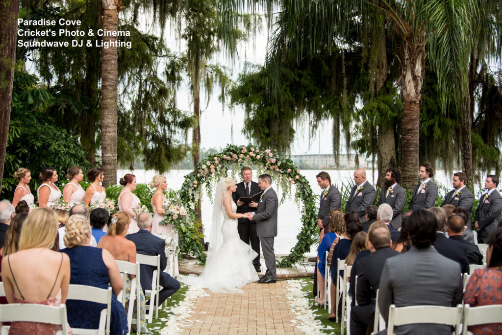 wedding at Paradise Cove soundwave entertainment floral