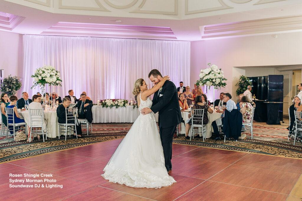 bride and groom dance