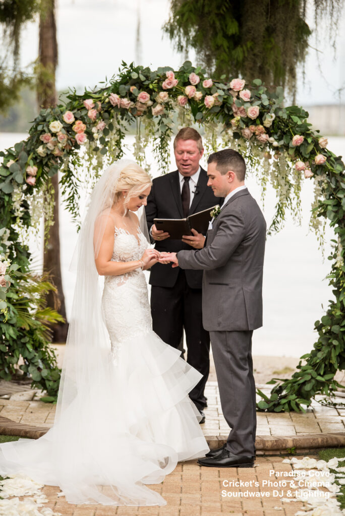 wedding at Paradise Cove soundwave entertainment rings