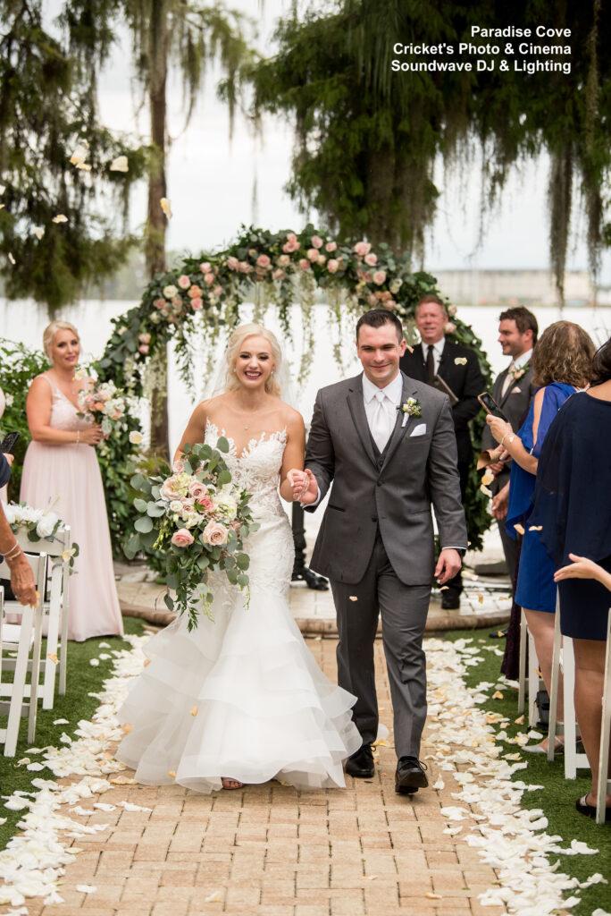 wedding at Paradise Cove soundwave entertainment ceremony