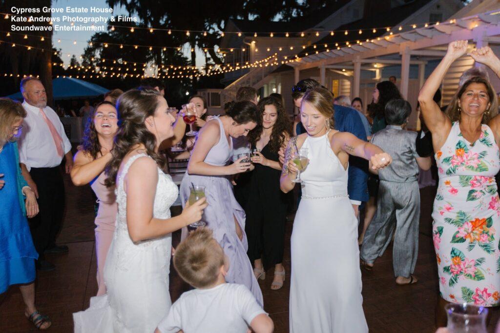 reception dancing wedding cypress grove soundwave entertainment