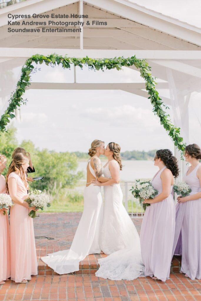 wedding cypress grove soundwave entertainment first kiss